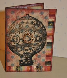 ATC for a Swap VLVS! Victorian Balloon Stamp