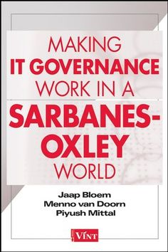 Comprehensive and eye-opening, this book addresses both the human and economic aspects of IT governance and covers recent Sarbanes-Oxley history and compliance consequences for IT groups within corporations. It presents a clear view of the relationship of corporate governance and IT governance and gives managers, controllers, and officers a multifaceted approach and an entire repertoire of resources that can assist in achieving better IT governance.