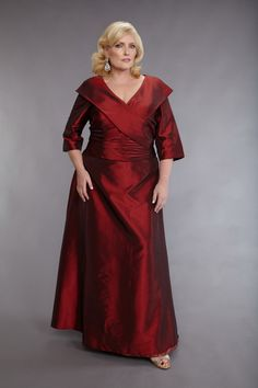 Plus Size Mother of The Bride Dresses. You know, this could also work for your #bridesmaids as well!