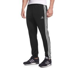 adidas Men's Essentials Tricot Tapered Joggers ($30) ❤ liked on Polyvore featuring men's fashion, men's clothing, men's activewear, men's activewear pants, mens track pants, mens activewear pants and mens activewear