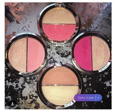 Lipstick Junkie Forever: BECCA x Jaclyn Hill Split Pans Blush & Highlighter + Swatches - i like the ammerretto and the flowerchild one Pretty Makeup, Love Makeup, Makeup Inspo, Makeup Inspiration, Beauty Makeup, Champagne Pop, Becca Champagne, Kiss Makeup, Makeup Products