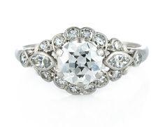 1950's Vintage Diamond Engagement Ring