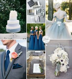 Blue and White Wedding Ideas - Slate Blue and Gray Wedding Inspiration