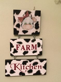 Cow black white farm decor hanging sign country kitchen sign kitchen decor country kitchen farm style kitchen housewarming ready to ship - Kitchen Decor Themes Cow Kitchen Decor, Cow Decor, Kitchen Decor Themes, Kitchen Signs, Farmhouse Kitchen Decor, Kitchen Ideas, Country Farm Kitchen, Arte Pallet, Cow Craft
