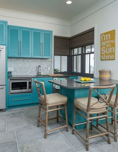 turquoise kitchen   CDC Woodworking