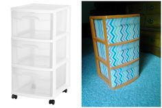 DYI 3 drawer storage!!! Was sooo easy and looks great in a dorm room!
