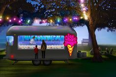 Conceptual ice-cream truck by Manic Design. Ice Cream Junkie. Lighting is a great and probably worthwhile enhancement! popuprepublic.com