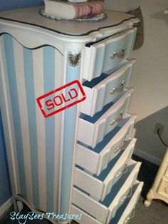 $799 SOLD. Daytona Beach Collection: Broyhill French Provincial Lingerie Chest