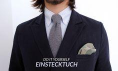 Do it yourself // Einstecktuch zum Selbermachen #diy