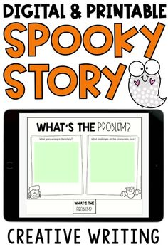 Have students create their own spooky story with these fun Halloween writing prompts! Use the printable version or digital version in Google Slides or Seesaw. Students use this booklet like story starters,