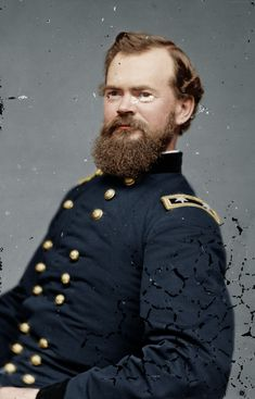 Major-General James B. McPherson, prodigy of Generals W. Sherman and U. The loss of him during the Atlanta Campaign really hurt. Much like the untimely death of Reynolds at Gettysburg. American Civil War, American History, Civil War Art, Union Army, Military History, Military Guys, Military Veterans, Military Art, War Image