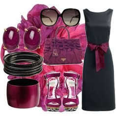 """""""Black and purple ... """" by dalmatinka on Polyvore"""