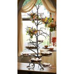 Twig 6-Plate Cupcake Server. Wrought Iron ...  sc 1 st  Pinterest & 4 Tier Wrought Iron Cake Stand | wrought iron | Pinterest