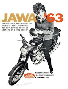 More Jawa stuff… – Flesh & Relics Motorcycle Museum, Motorcycle Design, Motorcycle Posters, Car Posters, Jawa 350, Enfield Motorcycle, Retro Bike, Motorcycle Manufacturers, Vintage Cycles