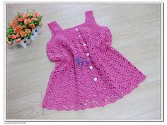 Bright pink crochet top