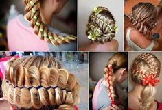 How to Easily and Quickly Make Four-Strand Ribbon Braid Headband Hairstyle