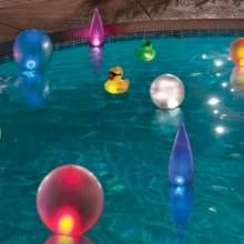 Light up your pool parties with SolarGLO™ Solar Powered LED Lighted Inflatables by Scottsdale-based GAME. #poolparties #phgmag #pools