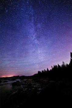Sweden. Milky way and the Baltic by Jonas Wiklund, via Flickr