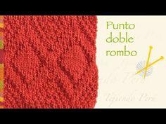Clase de tejido Punto (puntada) ROMBOS CALADOS. Tejido con dos agujas # 208 - YouTube