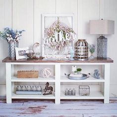 Me and Maddie had fun styling our first build! Thanks again to @atchleyphotography for taking some pics for us! #anawhitediy #woodworking #farmhousestyle #kregjig