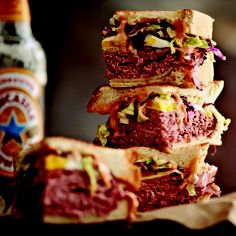 Presentation: stacked sandwich