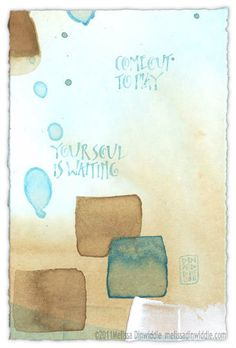 Come out to play, your soul is waiting!    How will you feed your creative spirit today?