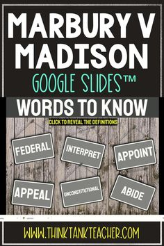 Try something new with this Digital Marbury v. Madison Interactive Google Slides Presentation ™ with self-checking questions! Perfect reading comprehension activity for distance learning in your civics and government classroom! Topics include: Supreme Court, Marbury v. Madison, Judicial Review #Constitution #MarburyVMadison #SupremeCourt #HomeSchool #Digital #7thgrade #5thgrade #6thgrade #Interactive #MiddleSchool #UpperElementary