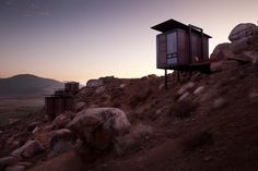 eco friendly cabins that sit on stilts!