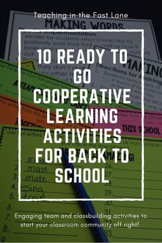 How to Have the Best First Day of School With Cooperative Learning Start the year off right with cooperative learning. Cooperative learning strategies are a great way to build relationships and community with and among your students.