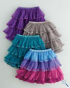Layered Tulle Skirt - Baby Girls & Girls <--- the pink multi. Garnet Hill