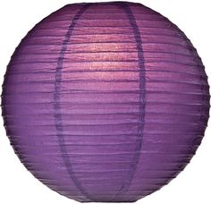 Bellflower Purple 14 Inch Round Premium Paper Lantern (parallel ribbing)