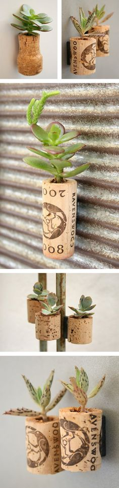 cactus in wine's cork Crafts To Do, Crafts For Kids, Arts And Crafts, Diy Crafts, Mini Vasos, Garden Journal, Fun Projects, Mother Nature, Stuff To Do