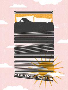 Courtney Barnett, Screen print Gig Poster on Etsy, $25.00