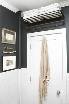 Beautiful master bathroom style tips. Modern Farmhouse, Rustic Modern, Classic, light and airy bathroom design some suggestions. Bathroom makeover a few some ideas and master bathroom remodel suggestions. Small Bathroom Storage, Bathroom Vanity, Small Bathroom, Door Shelves, Bathroom Decor, Amazing Bathrooms, Bathroom Makeover, Bathroom Shelves, Bathroom Storage