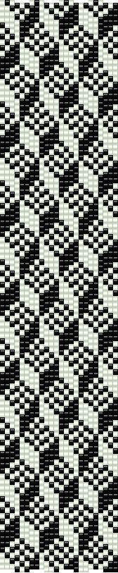 Loom PDF pattern geometric cubism using by CinfulBeadPatterns
