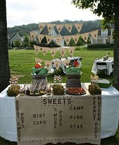 Camping dessert table. My kind of camping!