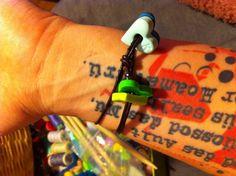 <3 lederarmband von www.klunkar.com  #herz #lederarmband