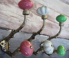 Ceramic Knob Shabby Chic Coat Hooks