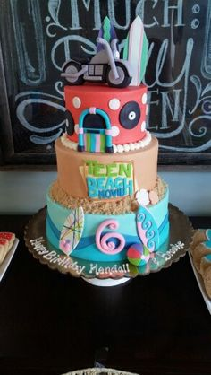Teen Beach Movie cake