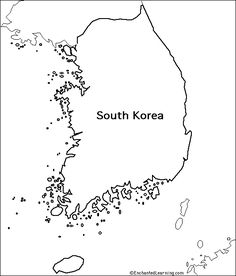 another outline map of South Korea