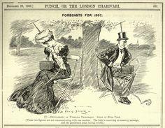 Una caricatura publicada en 1906 predijo nuestra obsesión con los teléfonos inteligentes