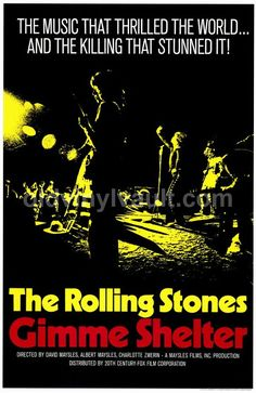Rolling Stones 1970 Movie Poster