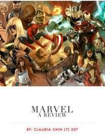 Marvel | http://paperloveanddreams.com/book/923436799/marvel | Marvel is a comic book and also a movie. It�s a wonder to find someone who doesn�t love the show. So here�s a review, just to show you the highlights of it. Wolverine is cool.
