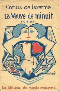 Book cover illustration for Carlos de Lazerme, La Veuve de Minuit