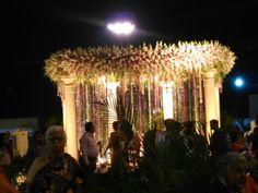 Las flores,los detalles de luz,la glorieta donde se celebra la unión de Aarish y Pinaz.