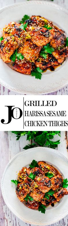 If you're looking for more flavor in your chicken, stop right there. These harissa sesame chicken thighs are super flavourful, easy to put together and grilled to perfection.