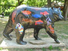 Bear Statue  Fish Bear ~ Cherokee, NC