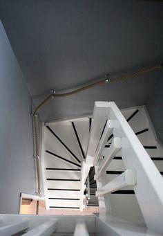 stairs, rope, rail