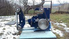 Belt grinder 2x72 flat platen assembly