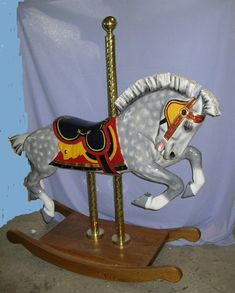 Two of my favorite things, a carousel horse that happens to be a Percheron :)